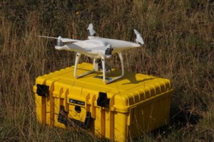 Zdjęcie drona w terenie
