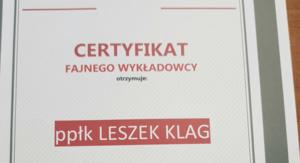 Dyplom ISP fajnego wykładowcy