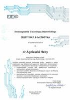 certyfikat dla dr agnieszki heby